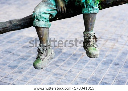 retro old antique vintage Legs and shoes - stock photo