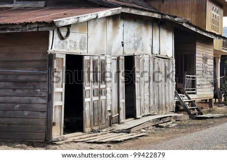 Retro Old House Thailand Style Country Vintage - stock photo