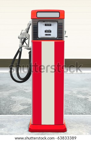 retro old vintage gas station featuring ethyl gas
