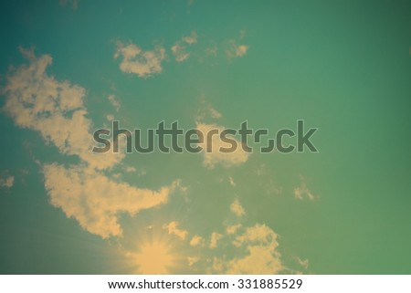Retro or Vintage Sky - stock photo