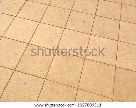 Retro Orange Ceramic Tile Floor Texture Pattern Background