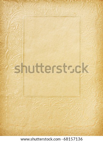retro page with floral ornament - stock photo