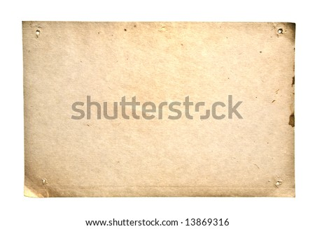 Retro Paper Isolated On White. Ready for your message. - stock photo
