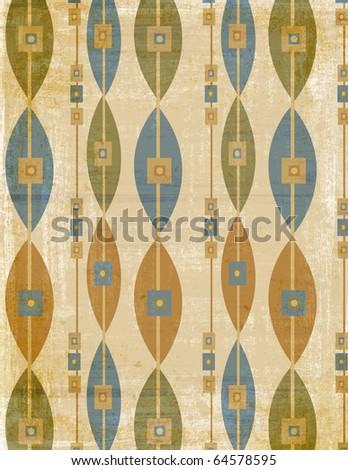 Retro1960  pattern - stock photo