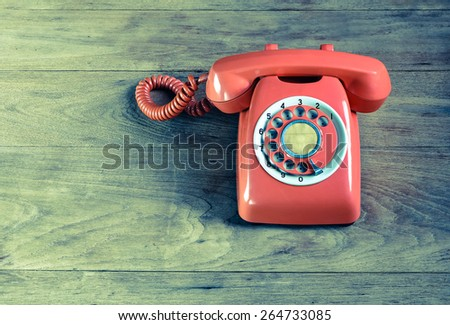 Retro Phone vintage - stock photo