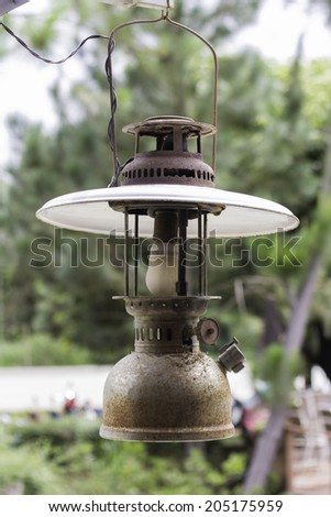 Retro Photo Of A Vintage  Lamp - stock photo