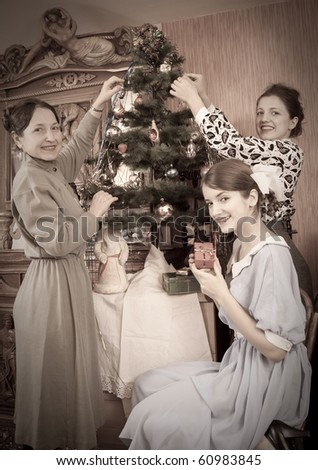 Black People Decorating For Christmas victorian christmas tree stock images, royalty-free images