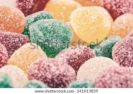 Retro Photo Of Sweet Jelly Background - stock photo