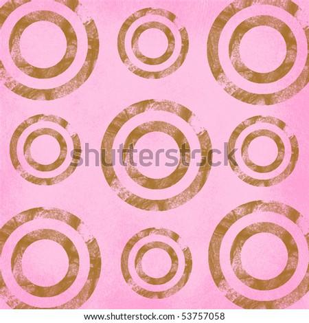 Retro Pink Grunge Circles - stock photo