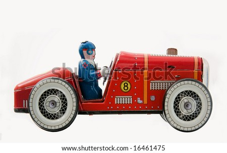 retro race car - stock photo