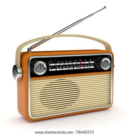 Retro radio - stock photo