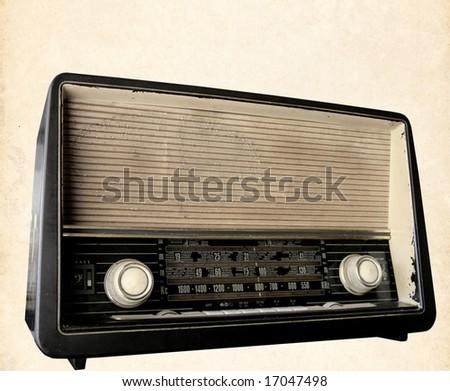 retro radio background - stock photo