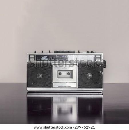 Retro Radio Cassette - stock photo
