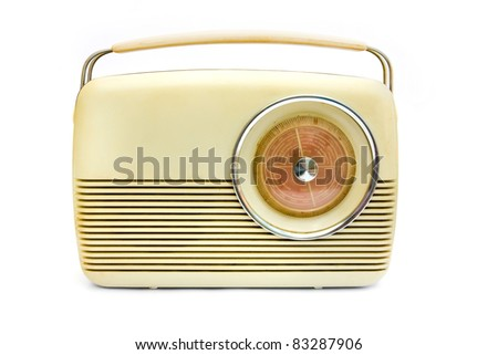 Retro radio isolated on white