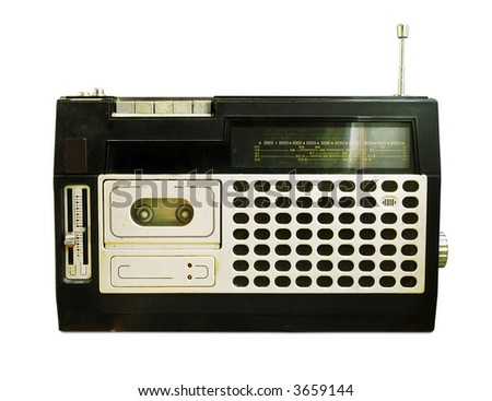 Retro Radio / Tape Recorder (+clipping path for easy background removing if needed) - stock photo
