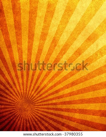 retro rays pattern background - stock photo