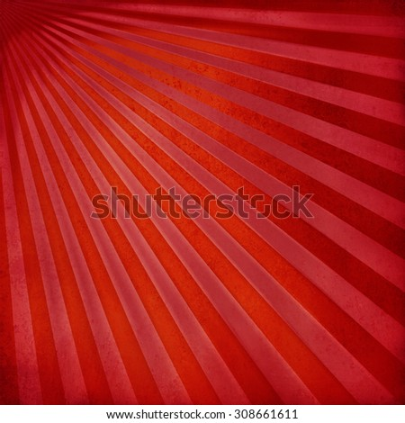 retro red sunburst background design with textured stripes - stock photo
