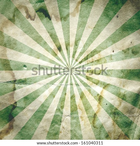 Retro revival sunbeam poster background in green - stock photo
