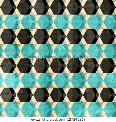 retro rhombus seamless pattern (raster version) - stock photo