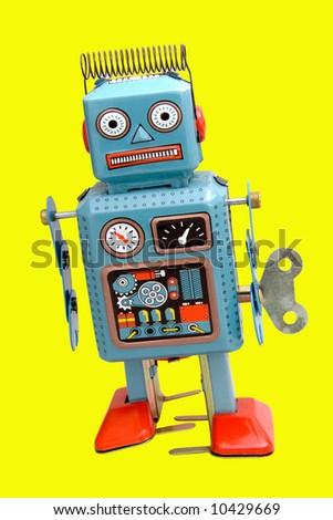 retro robot - stock photo