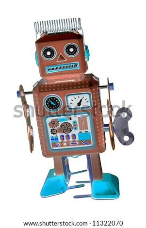 retro robot toy abstract - stock photo