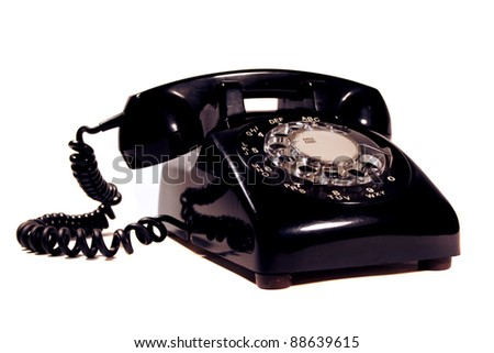 Retro rotary phone made by northern electric - stock photo
