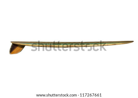 Retro 60's Surfboard isolated on white - stock photo