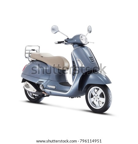 Scooter stock images royalty free images vectors for Motor scooter blue book