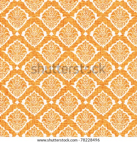 retro seamless ornamental texture with stylized flowers - stock photo