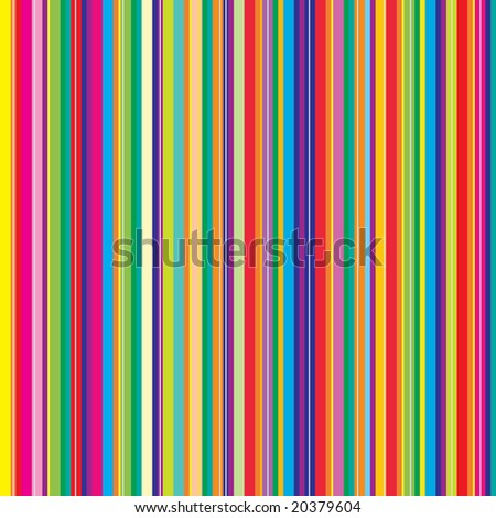 Retro (seamless) stripe pattern with bright colors - stock photo