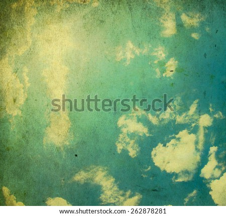 Retro sky - stock photo