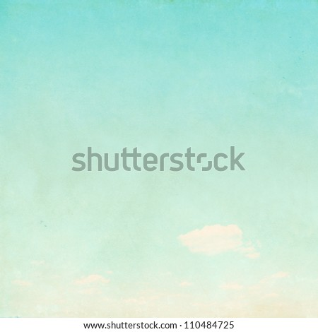 Retro sky background. - stock photo