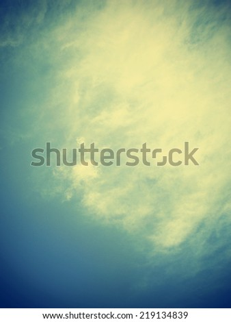 Retro sky. Sky and clouds and vintage style. Fog and clouds on a vintage. - stock photo