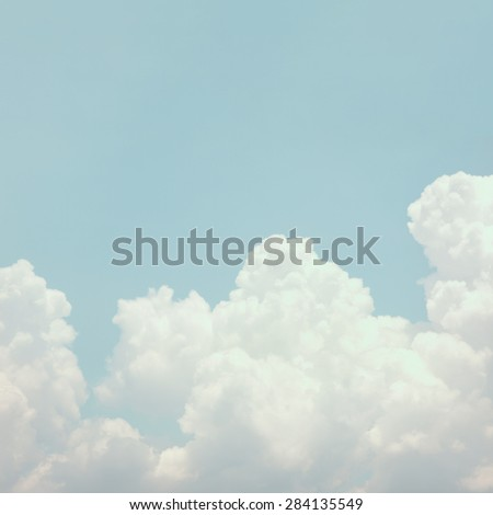 retro sky with cloud background - stock photo