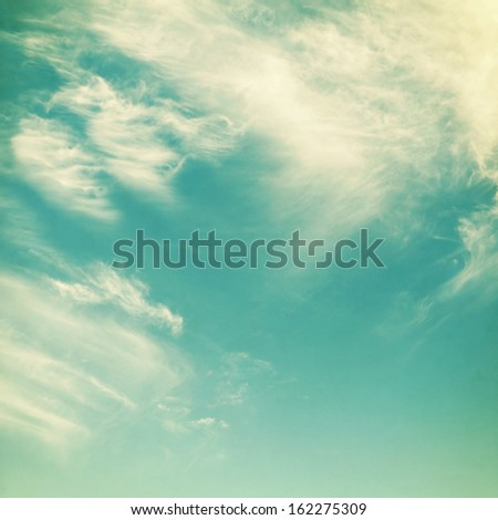 retro sky with clouds, can be used as background - stock photo