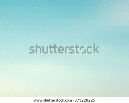retro sky with soft cloud background, low poly style - stock photo