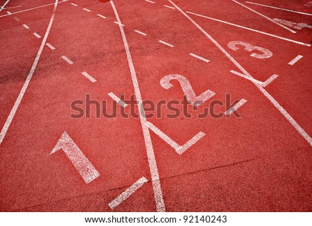 retro sport running track - stock photo
