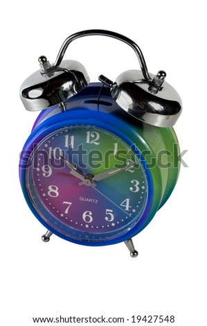 Retro style alarm clock with bells on the top