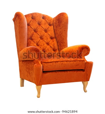 Retro style armchair isolated with clipping path included - stock photo