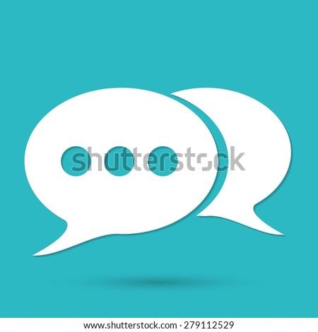 retro style bubble speech icon - stock photo