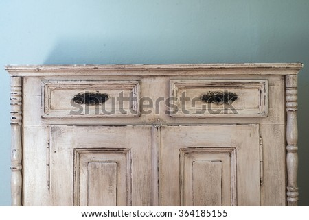 Retro style chest of drawers - stock photo