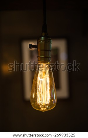 Retro style lighting bulb decor