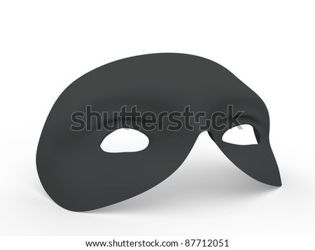 Retro style mask in black. Helps to hide your face in carnival, halloween or other holidays - stock photo