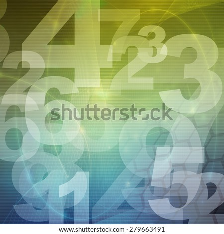 retro style numbers-background in grunge style - stock photo