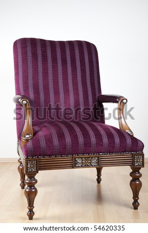 Retro style old sofa - stock photo