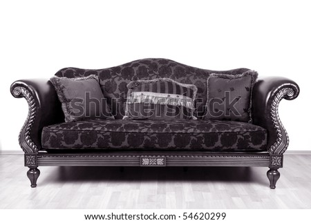 Retro style sofa - stock photo