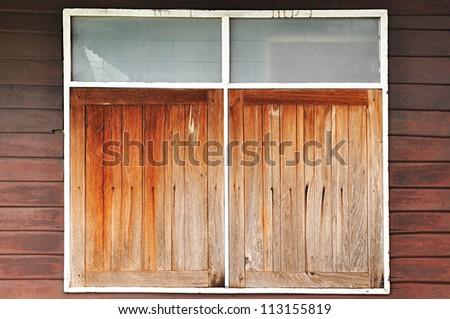 Retro style Wooden window - stock photo