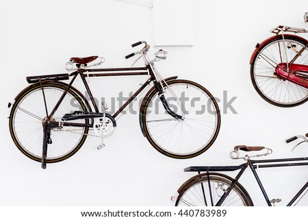 Retro styled image of a nineteenth century bicycle isolated on a
