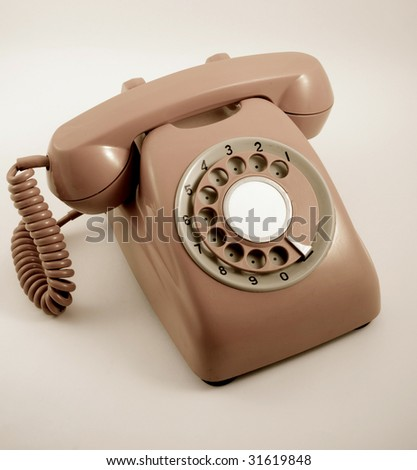 retro styled image of an old phone