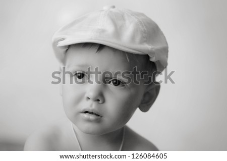 Retro styled Portrait of small boy